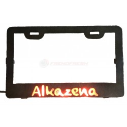 Illuminated motorcycle license plate frame