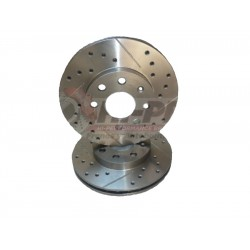 Drilled slotted rotors Nissan Versa 1.6